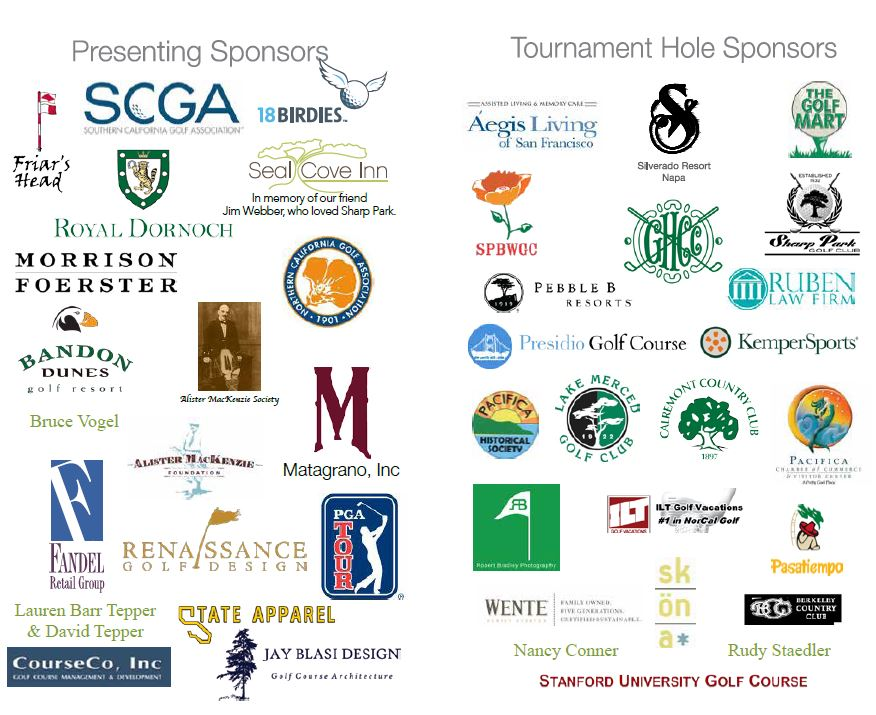 Sharp Park Tourney Sponsors
