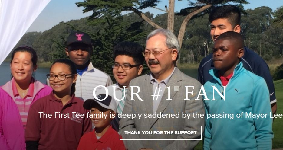 Ed Lee - The First Tee's First Fan