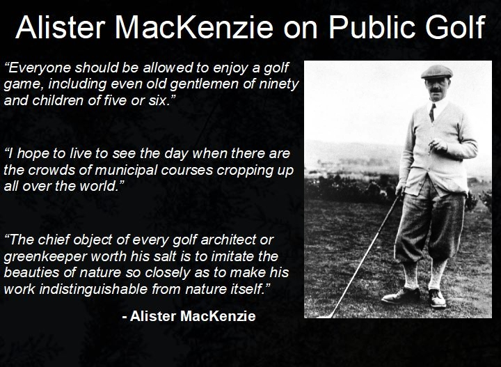 MacKenzie on Public Golf