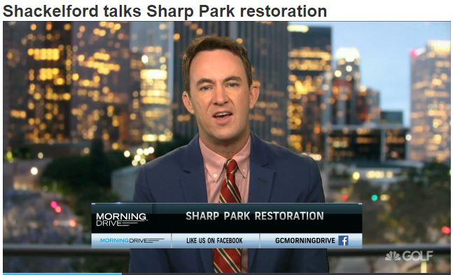 Shackelford Talks Sharp Park Restoration on Golf Channel