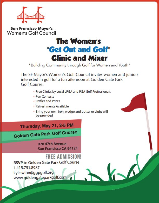 "San Francisco Women's ""Get Out and Golf"" Clinic and Mixer"
